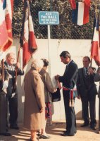 Inauguration de la rue Yves Hall - 15 septembre 1984